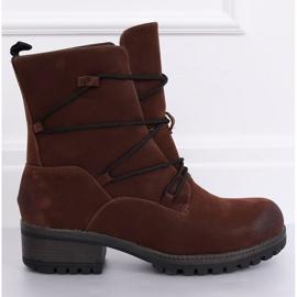 Hnědé boty na hnědé K1936104 Marron hnědý