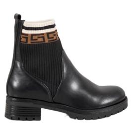 Gogo Kotníkové kotníkové boty s ekologickou kůží černá