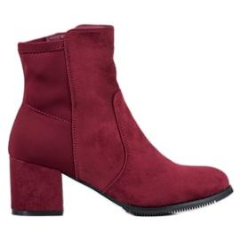 J. Star Burgundské boty červená