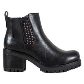 J. Star Teplé kotníkové boty černá