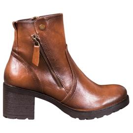 SHELOVET Kotníkové boty hnědý