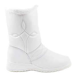 Bílé botičky na botičky 69 bílá