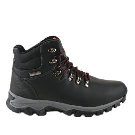 Černé izolované lyžařské boty MXC-7587L černá