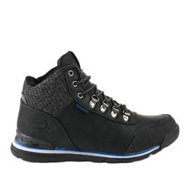 Černé izolované lyžařské boty MXC-7585 černá