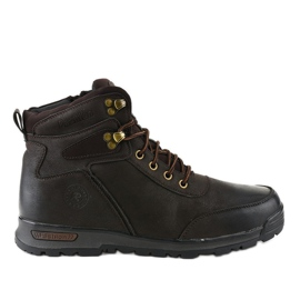Hnědá zateplená pánská turistická obuv M70-2E hnědý