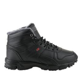 Černé izolované pásové boty MC783-1 černá