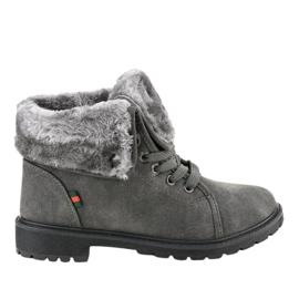 Šedá zateplená dámská obuv TL54-3