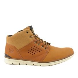 Hnědá zateplená pánská turistická obuv X926-14 hnědý