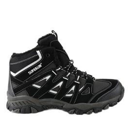Černé masivní 6282 pánské turistické boty