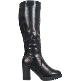 SHELOVET Boots On Platform černá