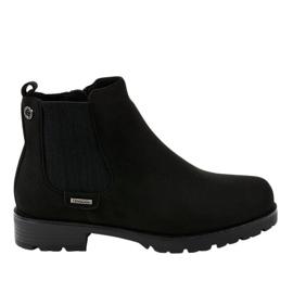 Černé ploché boty izolované Jodhpurové boty SG-328 černá