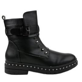 Černé ploché izolované boty 1946-9 černá