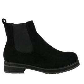 Černé izolované boty Jodhpur boty F-3799 černá
