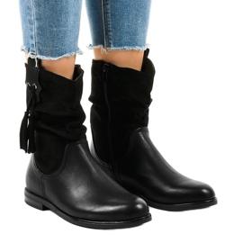Černé izolované ploché boty pro ženy 2956 černá