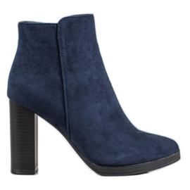 Ideal Shoes Klasické vysoké podpatky modrý