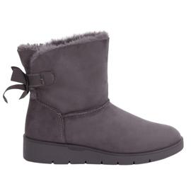Dámské zimní boty A-3 Grey šedá