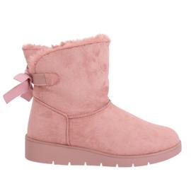 Dámské zimní boty A-3 Pink růžový