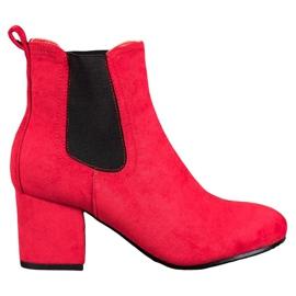 Bestelle Kotníkové kotníkové boty červená