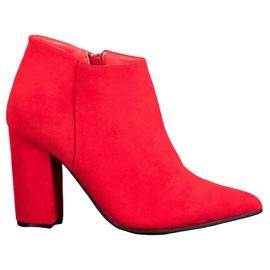 Marquiz Sexy zipové boty červená