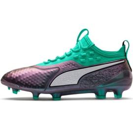 Fotbalová obuv Puma One 1 Il Lth Fg Ag M 104925 01 zelená