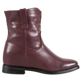 Ideal Shoes Kovbojské Boty S Ekologickou Kůže červená