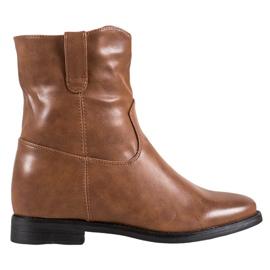 Ideal Shoes Kovbojské Boty S Ekologickou Kůže hnědý