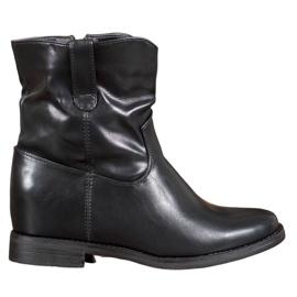 Ideal Shoes Kovbojské Boty S Ekologickou Kůže černá