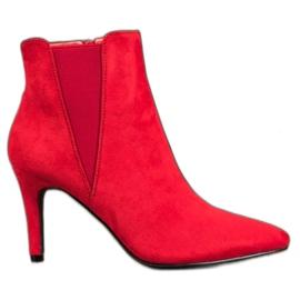 Marquiz Kotníkové boty červená