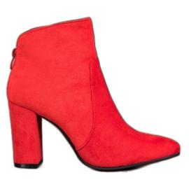 Ideal Shoes Klasické kotníkové boty červená