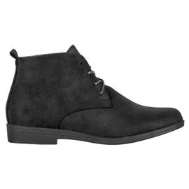 Goodin Pohodlné semišové boty černá