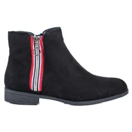 SHELOVET Teplé kotníkové boty černá