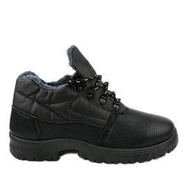 7M700 černé turistické boty černá