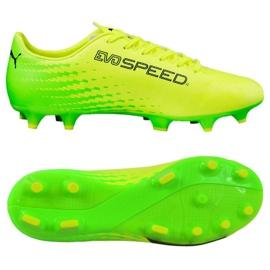 Kopačky Puma Evo Speed 17,4 Fg M 104017 01 žlutý zelená, žlutá