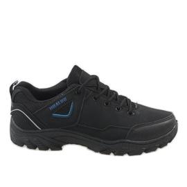 Černé trekové boty 128 černá