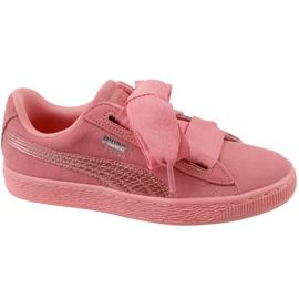 Puma Suede Heart Snk Jr 364918-05 boty růžový