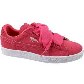 Puma Suede Heart Jr 365135-01 boty červená