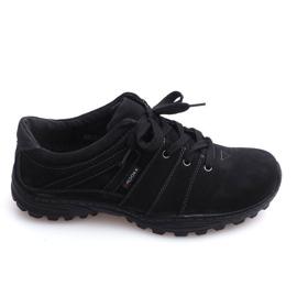 Trekingové boty Kůže Nat 6144 Černá
