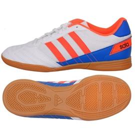 Puma Fotbalová obuv Adidas Super Sala J In Jr FV2633 bílá bílá, modrá, oranžová