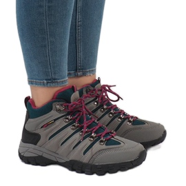 Šedá dámská treková obuv FS302-33