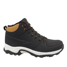 Černé izolované lyžařské boty 9WCH-86421