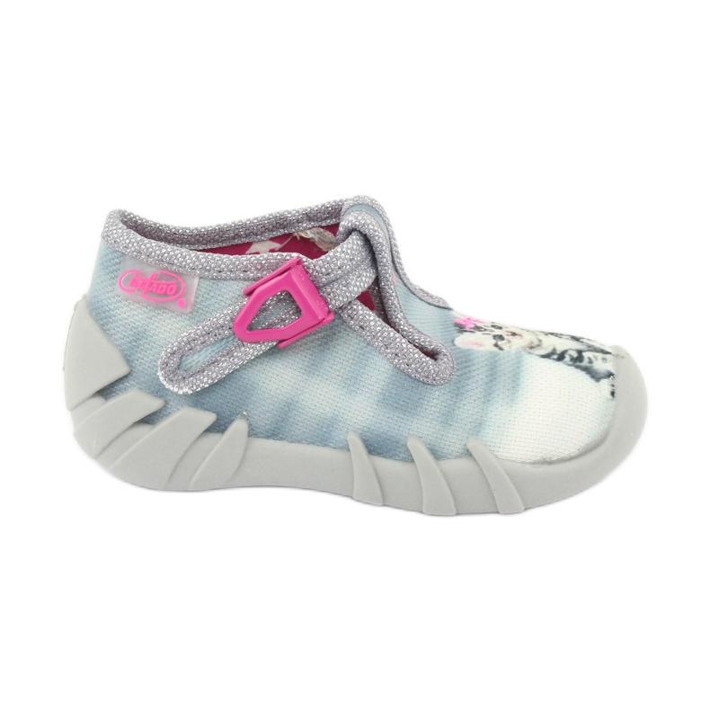 Dětská obuv Befado Kitty 110P365 šedá