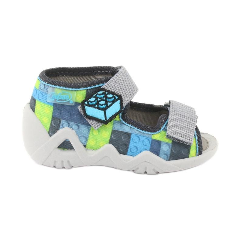 Dětské sandály Befado 250P093 modrý šedá zelená