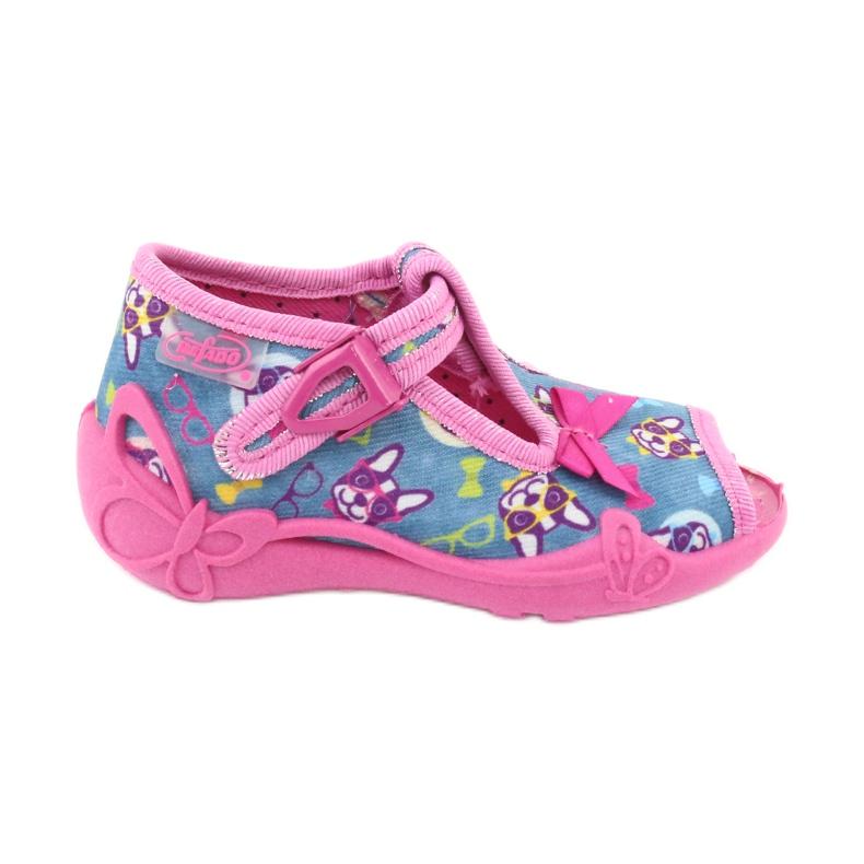 Befado růžová dětská obuv 213P113 modrý růžový