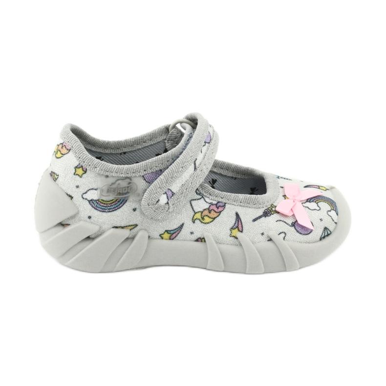 Dětská obuv Befado 109P199 šedá vícebarevný