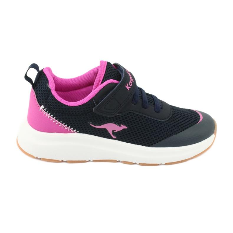Sportovní obuv KangaROOS se suchým zipem 18507 námořnická / růžová