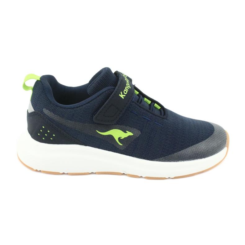 Sportovní obuv KangaROOS se suchým zipem 18508 námořnická / limetková