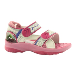 Růžové sandály dětské boty na vodu Rider 80608 ['odstíny růžové', 'odstíny šedé a stříbrné', 'biel']