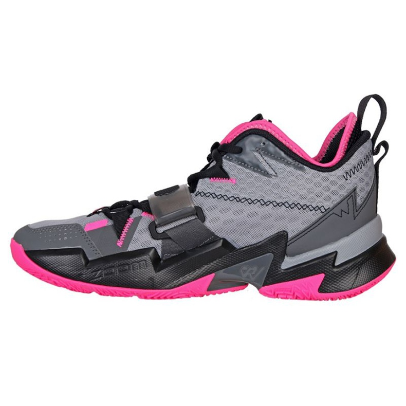 Nike Jordan Proč ne Zero M CD3003 003 boty šedá černá, růžová, šedá / stříbrná