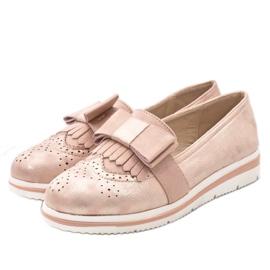 Růžové matné boty na klínu YT-8 růžový