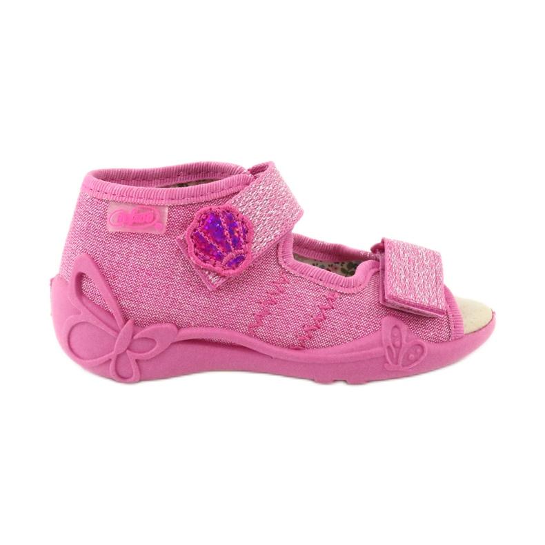 Befado žluté dětské boty 342P011 růžový
